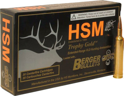 HSM AMMO TG  30-06 168GR BERGER MATCH HUNTING VLD 20-PK