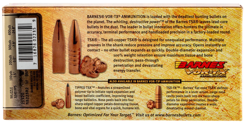 Barnes Bullets 21520 VOR-TX Rifle 223 Rem 55 gr TSX Flat ...